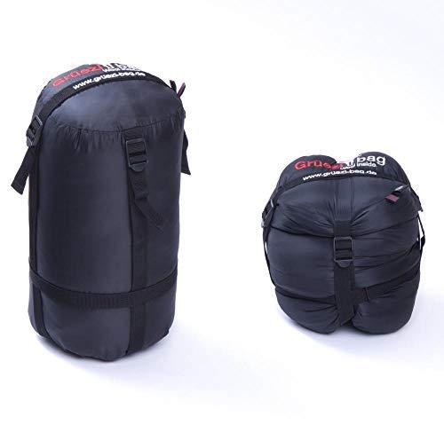 Grüezi-Bag Kompressionssack L, 15 Liter, mit zugentlastenden Doppelkreuz-Kompressionsriemen, Transport-Sack für Hiking- und Berg-Touren