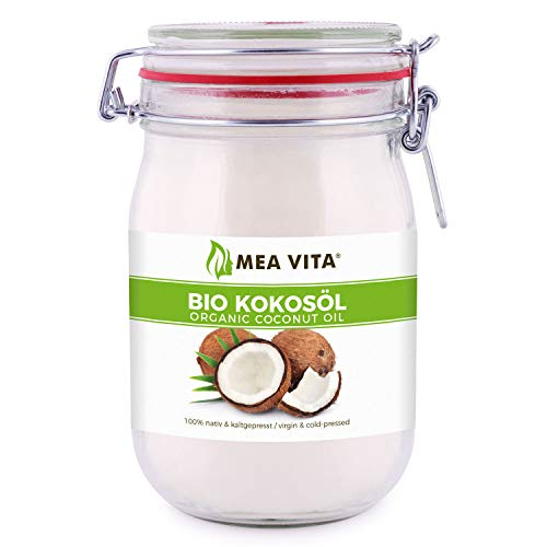 MeaVita Huile de Noix de Coco Biologique Extra Vierge, 1 Litre (1 X 1000 ml)