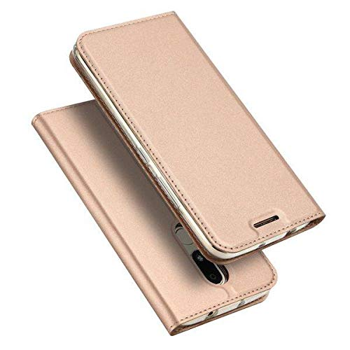 Dux Ducis - Case for Motorola Moto M - Ultra Slim PU Leather Flip Folio Case with Magnetic Closure - Pink