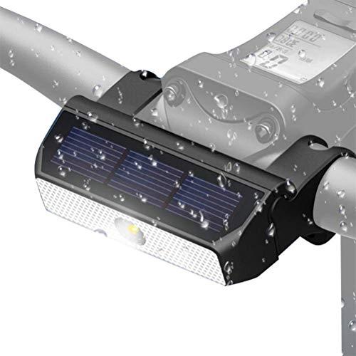 Fahrradlicht Wiederaufladbar mit USB Solar Scheinwerfer Front Fahrrad Fahrrad Solarbetriebenes Licht Fahrrad LED Scheinwerfer Blinklicht für Fahrrad Fahrrad Lampe