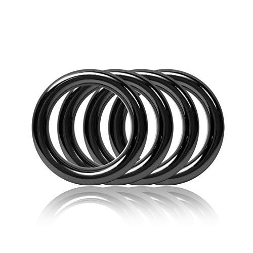 Ganzoo O - Ring aus Stahl, 4er Set, DIY Hunde-Leine/Hunde-Halsband, nichtrostend, Ideal mit Paracord 550, geschweißt, Farbe: Titan