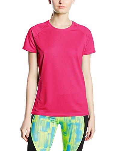 Fruit Of The Loom SS075M, Camiseta Para Mujer, Rosa (Fuchsia), Small