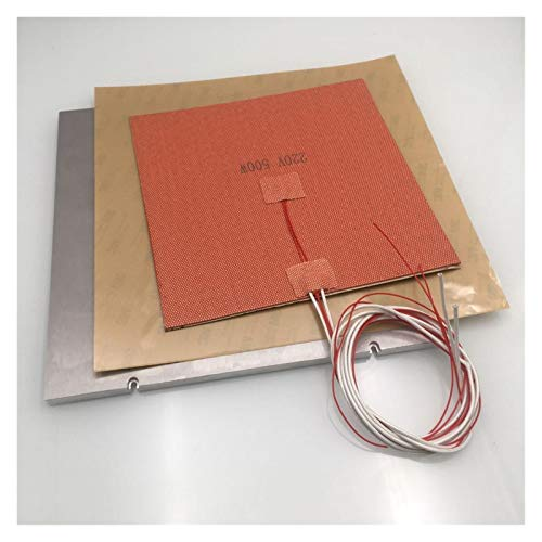 High Precision for MIC-6 Aluminum Z Build Plate Kit 110/220V Silicone AC Heater pad PEI 3M Sheet kit for VORON 2.4 3D Printer DIY Parts Stable Performance (Color : 110V, Size : 250mm Build)