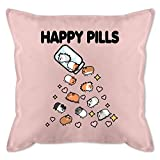 Shirtracer Statement Kissen - Happy Pills - Meerschweinchen Liebe - Unisize - Hellrosa - Fun - GURLI...