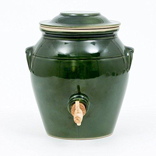DIGOIN CERAMIQUES Vinaigrier vert en grès 4 L N°3 - PVR03VG