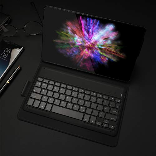 Jelly Comb Samsung Galaxy Tab A 10.1 2019 Tastatur Hülle, Bluetooth Beleuchtete QWERTZ Tastatur mit Schützhülle für Samsung Galaxy Tab A 10,1 Zoll T515/T510/T510N/T515N, Schwarz