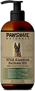 Pawsome Naturals Wild Alaskan Salmon Oil for Dogs and Cats: Liquid Supplement Rich in Omega-3 Fatty Acids (EPA & DHA). Sup...