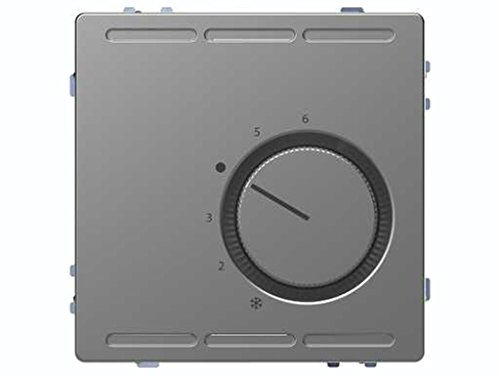 Schneider Electric MTN5762-6036 Termostato de Temperatura con Regulador de La Gama D-Life, Aluminio