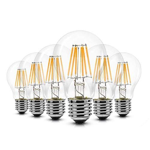 6er Pack LED Lampe E27 Glühbirne 6W Nicht Dimmbare Lampe, iGOKU Filament E27 led Glühfaden Warmweiß Leuchte Led Birne, 680 Lumen 2700K 360°Abstrahlwinkel LED Birne 60W Entspricht Edison Lampe
