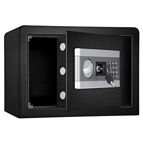 0.8Cub Fireproof and Waterproof Safe Cabinet Security Box, Digital Combination Lock Safe with Keypad LED Indicator, for Cash Money Jewelry Guns Cabinet