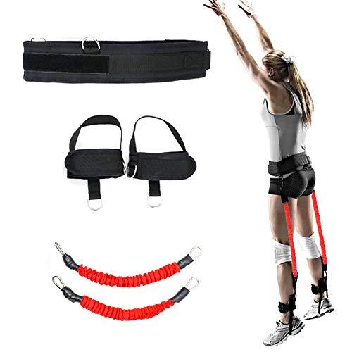 Lhr Sprungwiderstandsbänder, Fitness-Trainingsgürtel Beine Krafttrainingsbänder Volleyball-Tennis-Gummiband-Trainingsgerät Geeignet Für Erwachsene