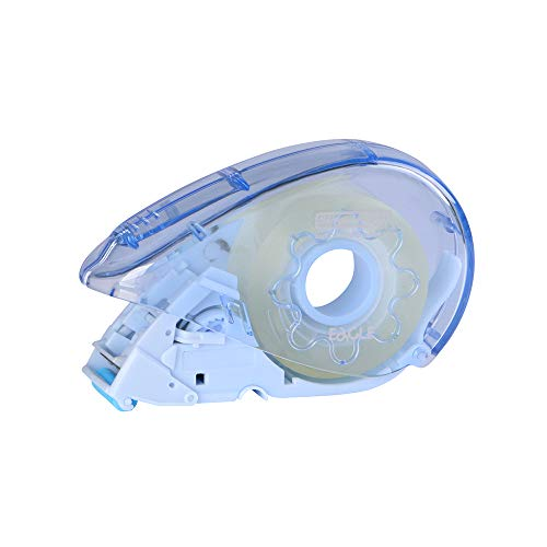 Eagle Automatischer Klebebandabroller, Washi-Tape-Abroller, Mini, Einhandbedienung, Press-to-Dispense-Mechanismus, passend für Standard Office Tape und Washi Tape blau
