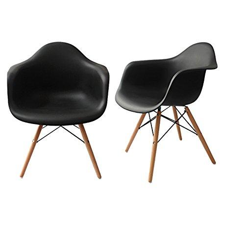 silla blanca patas madera de la marca Euroluce