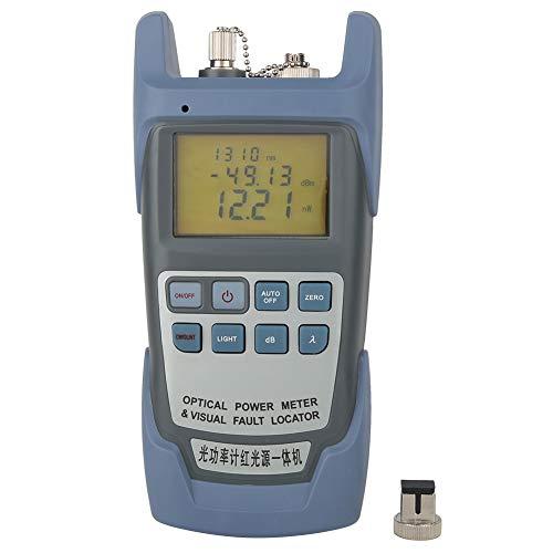 Medidor de cable de fibra óptica de alta precisión Medidor de potencia óptica resistente al desgaste Pantalla LED grande Localizador visual de fallas Ingeniería de comunicación para pruebas