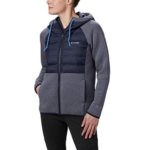 Columbia Northern Comfort Hybrid Sudadera con capucha para mujer, color oscuro, talla grande