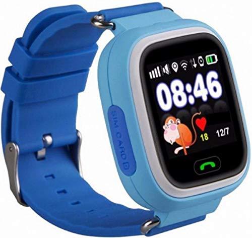 OPTIBLE® BABINO - Kinder GPS Intelligente Uhr Wasserdicht, Smartwatch GPS Tracker mit Kinder SOS Handy Touchscreen Spiel Voice Chat Wecker für Jungen Mädchen Student Geschenk… (Blau)