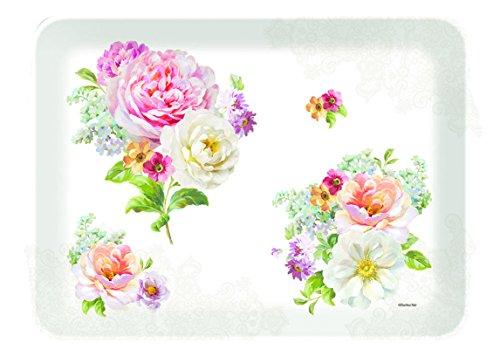R2S 531ROLC Romantic Lace-Bandeja Rectangular melamina, 33 X 22 X 2 cm