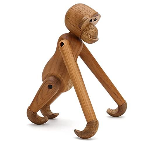 Mono del brazo colgante,artesanía de marionetas de madera danés de haya,una estatua de mono colgante con brazos y piernas móviles,utilizada para la barra de la casa y la decoración de la oficina,7.9in