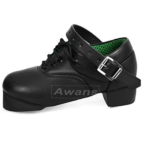 Tds IRISH DANCING HEAVY SHOES, Herren Tanzschuhe Schwarz schwarz, Schwarz - schwarz - Größe: UK 13 SMALL CHILDREN