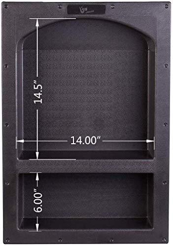 Uni-Green Duschnische 43,2 x 63,5 cm Bogen Doppelregal Duschwürfel für Organizer Aufbewahrung oder Aufbewahrung von Shampoo und Toiletry