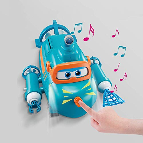 NLRHH Suministros para bebés Super Wings Willie Sound and Light Submarine Boy Girl Cdren's Educational Toys Deformation Toys CDREN's Gifts Cumpleaños Regalo Peng