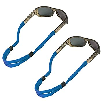 Chums No Tail Adjustable Cotton Eyeglass and Sunglass Retainer / Strap Royal Blue  2 Pack