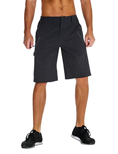 Unitop Men's Anytime Outdoor Shorts Quick Dry Hiking Cargo Shorts Gray 32