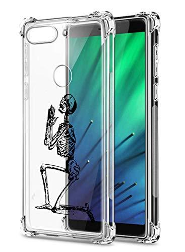Oihxse Transparent Silicone Mignon Case Compatible pour Xiaomi Redmi 7/Redmi Y3 Coque TPU Souple Ultra Mince Housse Clear Crystal Design Motif Anti-Scrach Protection Etui Bumper (A9)