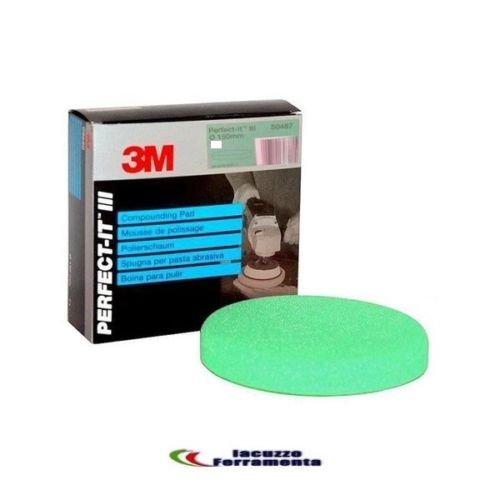 M3 3M Almohadilla esponja para pulir verde 3M 50487 para pasta abrasiva...