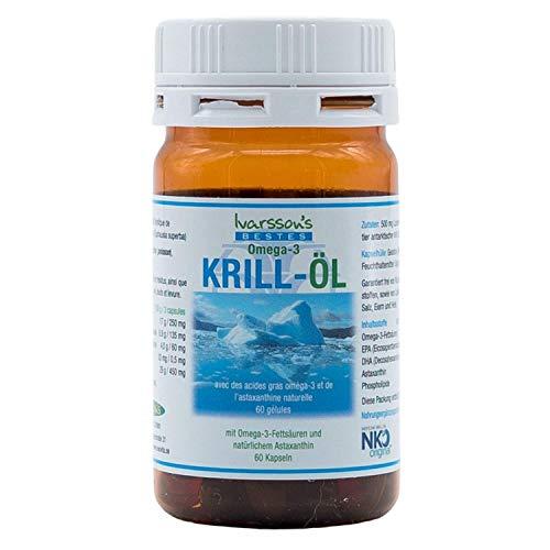 Omega-3 Kapseln mit Astaxanthin I 60 Kapseln I Ivarssons ESOVita I Krill-Öl-Kapseln mit EPA DHA I natürliches Astaxanthin