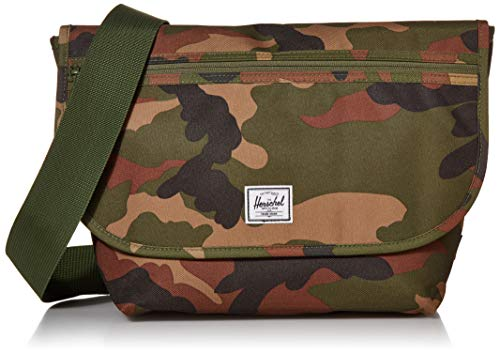 Herschel Grade Messenger Bag, Woodland Camo, Mid-Volume