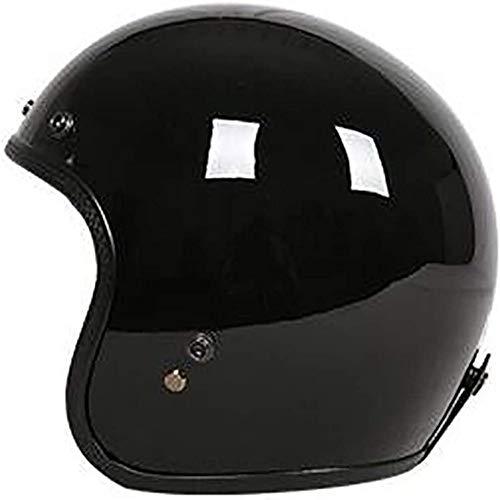 ZHXH Casco de moto adultos, casco Harley Frp Retro Season