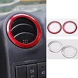 HKPKYK Décoration de climatiseur de voiture,Pour Suzuki Jimny 2007 à 2015, accessoires d'intérieur de garniture en aluminium de couverture de conduit de climatisation de voiture