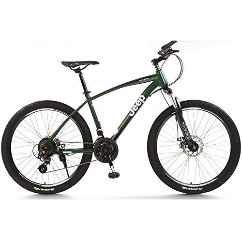 DULPLAY Mountainbikes,Unisex 24 Geschwindigkeit Shock Dual Disc Bremsen Erwachsene Fahrrad, Rennrad Fetter Reifen Aluminiumrahmen B 27.5zoll (170-190cm)
