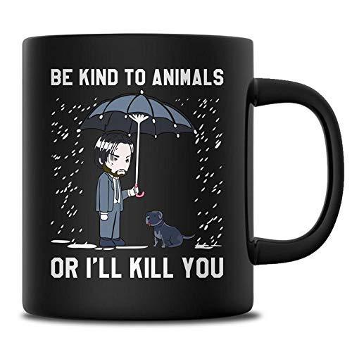 N\A Divertido sé Amable con los Animales o te mataré Camiseta dueño de Perros Keanu John Camiseta Amantes de los Animales Mecha cumpleaños Unisex