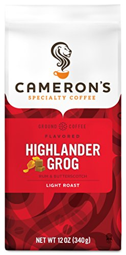 Cameron's Coffee Roasted Ground Coffee Bag, Flavored, Highlander Grog, 12 Ounce