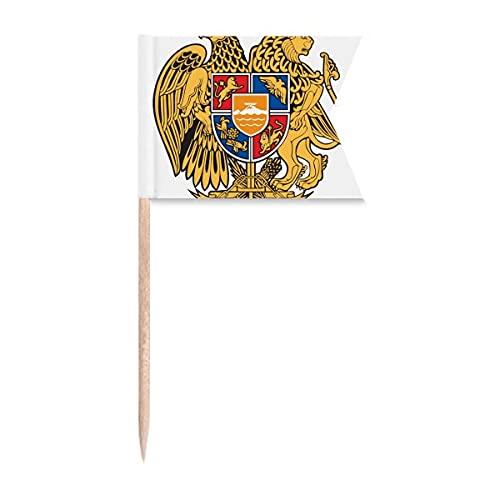 Yerevan Armenien Nationalemblem Zahnstocher Flaggen Kennzeichnung für Party Kuchen Lebensmittel Käseplatte