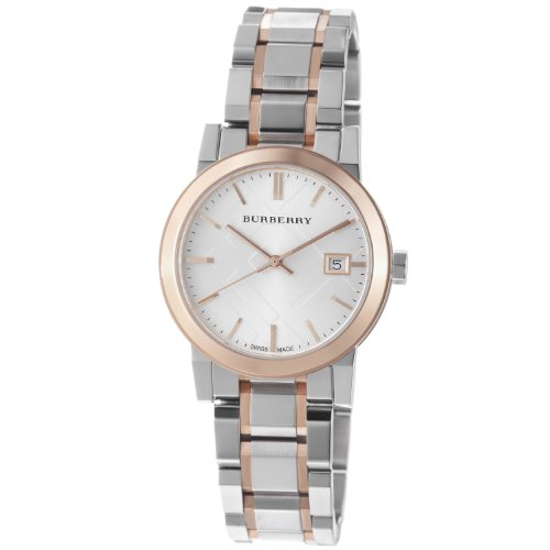 Burberry Women's BU9105 Large Check Two Tone Stainless Steel Bracelet Watch
