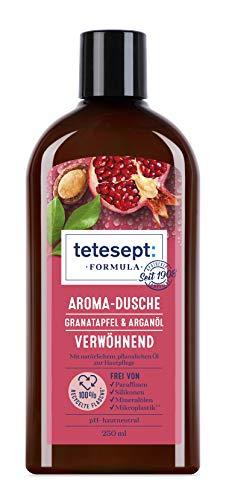 tetesept Formula Aroma-Dusche Granatapfel & Arganöl – Verwöhnendes Duschgel mit natürlichem, pflanzlichen Öl zur Hautpflege – 1 x 250 ml