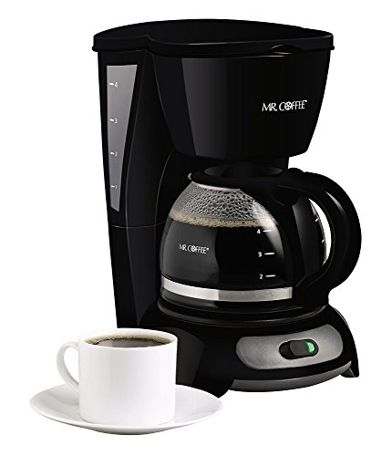 Mr. Coffee 4-Cup Switch Coffee Maker, Black