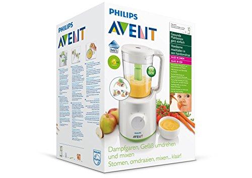 Philips Avent 2-in-1 Babynahrungszubereiter SCF870/20, Dampfgaren und Mixen, 800ml Kapazität, weiß - 7