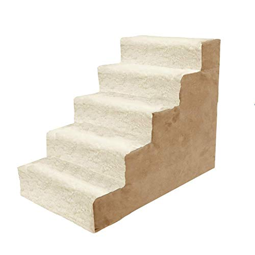 ZSPSHOP Medium Hond Trappen Grote Kat Trappen Huisdier Ladder Voor Hoge Bedden Bank, Verwijderbare Wasbaar Tapijt Tread (Maat: 5 Step)