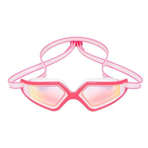 WJCCY Gafas de natación, sin fugas, para adultos, hombres, mujeres, jóvenes, marco de silicona suave y correa