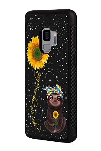 Galaxy S9 Case, Slim Anti-Scratch TPU Rubber Protective Case Cover for Samsung Galaxy S9 (2018) - Sunflower and Sloth