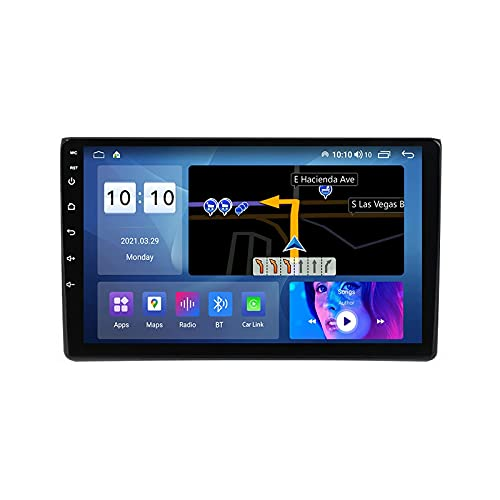 Coche Radio Stéreo Para A4 S4 B6 B7 Android 10.0 Multimedia Player FM Reproductor GPS Navegación IPS Pantalla Táctil Soporte 4G+Wifi/SWC/Carplay/Bluetooth/DSP/enlace espejo,4 Core 4G+WiFi: 1+32GB