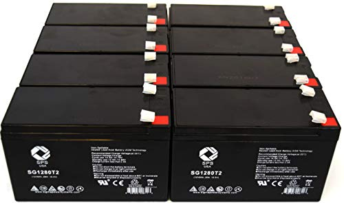 Replacement Battery for CP RB1280X2B UPS Replacement Battery (8 Pack)...