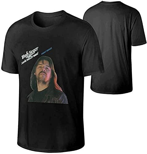 Perky Fashion Mens Bob Seger The Silver Bullet Band Night Moves Music Band Outdoor Cotton T Shirts Gift