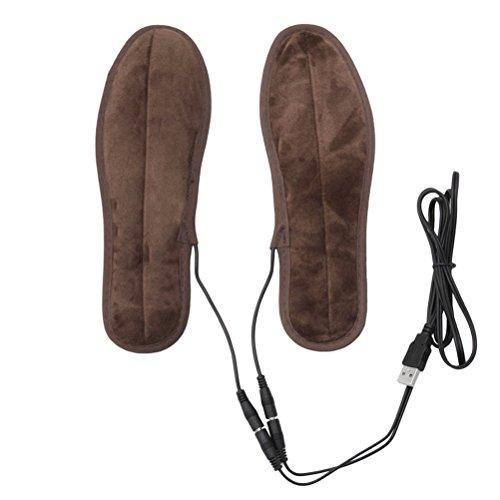 OUNONA Paar Beheizbare Einlegesohlen USB Winter Warm Schuheinlage - Gr??e 39-40