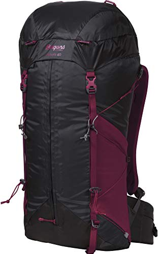 Bergans W Helium 40 Grau, Damen Alpin- und Trekkingrucksack, Größe 40l - Farbe Solid Charcoal - Beet Red