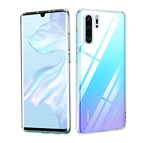 FACAI Huawei P30 Pro Crystal Clear Hülle, Ultra-dünne Silikon Anti-Gelb [Display Kameraschutz] Handyhülle, Stoßfest, Anti-Kratzer, Fallschutz TPU Flexible Schutzhülle Case - Transparent